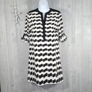 Crown & Ivy Zig Zag Stripe Tunic Shift Dress 4